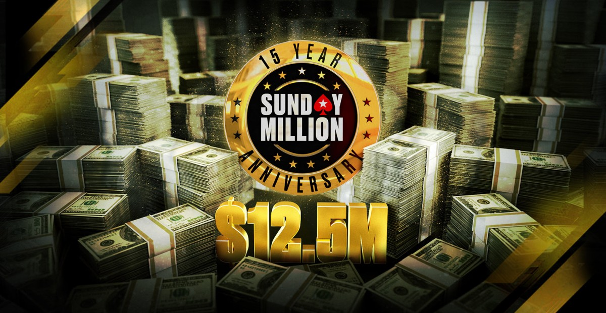 Sunday Million 15th Anniversary Event Announced With a $12.5 Million Guarantee
